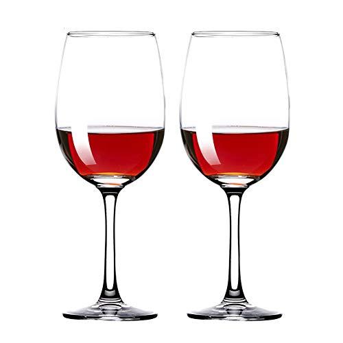 Z·Bling Copas de Vino Tinto,Cristalería Copas de Vino Personalizada Juego 2 Piezas en Forma Clásica,Vidrio Transparente sin Plomo Soplado a Mano para Vino Tinto,Vino Blanco,Espumoso - 460 ML