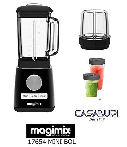 bester Test von magimix gelato expert eismaschine Magimix Power Blender Blender Schwarz 1300W 22000 g (mit 2 Zubehörteilen: Mini Bowl + – Blender Bowl)