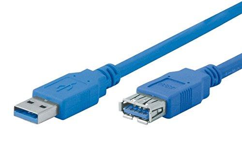Tecline 0.5m USB A Cavo USB 0,5 m Blu