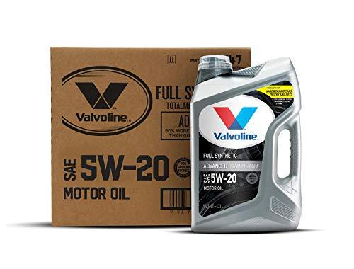 Valvoline Advanced Full Synthetic SAE 5W-20 Motor Oil 5 QT, Case of 3