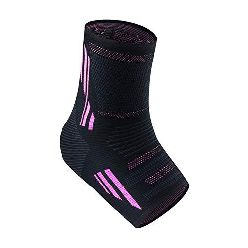 Y-fodoro 1 par de calcetines impresos con soporte para el tobillo, calcetines de punto antideslizantes y antiescaras, para calcetines de compresión con cubierta de talón deportivo-Pink_Xl ⭐