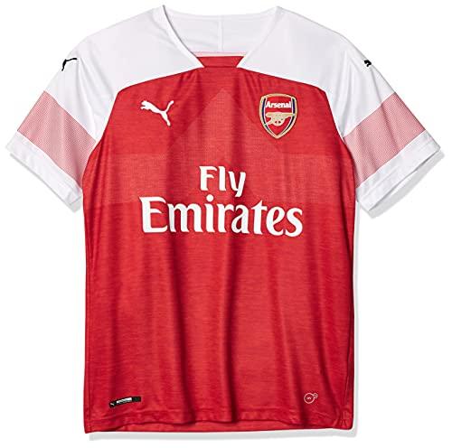 Puma Herren Arsenal Fc Home Shirt Replica Ss with Epl Sponsor Logo Trikot, Mehrfarbig (Chili Pepper Heather/White), Medium