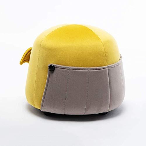 Taburete para sofá Taburete para el hogar Taburete de Tela para el hogar Taburete bajo para Sala de Estar Taburete de 锛 宻 tep para niños (Color: Amarillo)