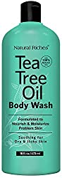 Buy Antifungal Tea Tree Oil Body Wash Peppermint & Eucalyptus Oil Antibacterial Soap by Natural Riches