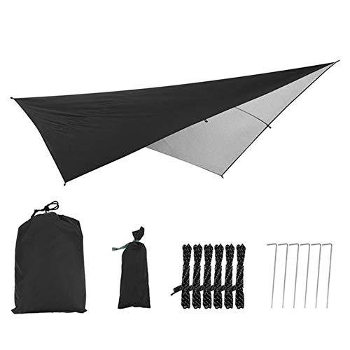 W.Z.H.H.H Schattensegel Pergola Abdeckung Canopy Sun Shelter Tarp Zelt wasserdicht Polyester Markise Schatten for Outdoor Camping Garten Sonnenschutztuch. (Color : Schwarz, Size : 2.9x2.9m)