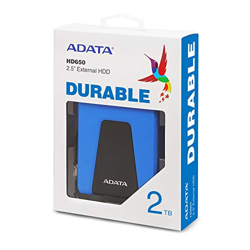 "ADATA HD650 - Disco Duro Externo (1000 GB, 2.5"", 3.0 (3.1 Gen 1), Azul) miniatura"