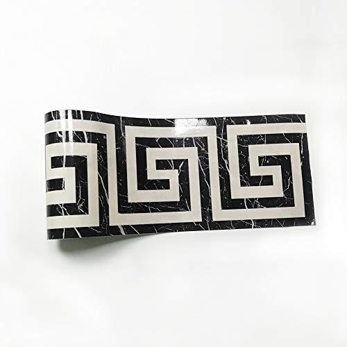Bordüre Selbstklebend PVC Tapete Aufkleber, 10M Wandtattoo,Wohnzimmer Küche Bad Bordüre Stciker,Wandbordüre (5 cm * 10 M,#3)