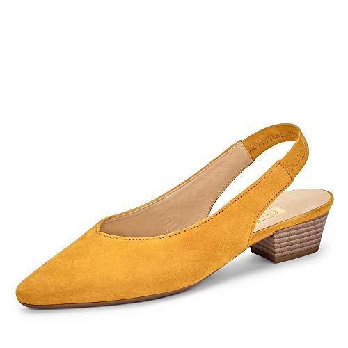 Gabor Fashion Pumps in Übergrößen Gelb 41.530.13 große Damenschuhe, Größe:44