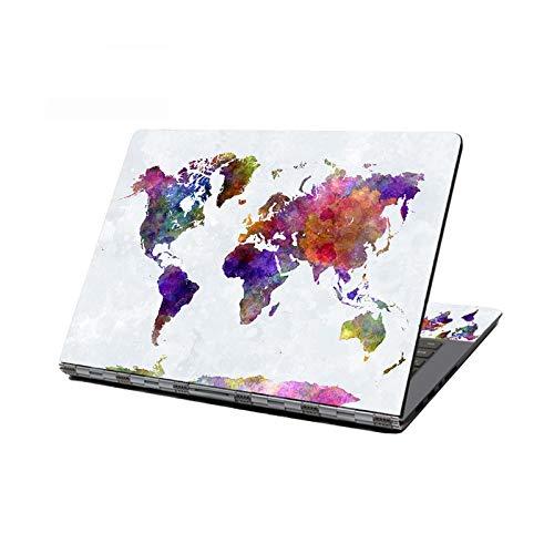 Adhesivo decorativo para ordenador portátil, mapa del mundo de piel de ordenador portátil, 15,6 pulgadas, 15 pulgadas, HP, Acer, ASUS/Lenovo -J-13 pulgadas