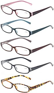 Reading Glasses 5 Pairs Quality Fashion Men Women Spring Hinge Readers