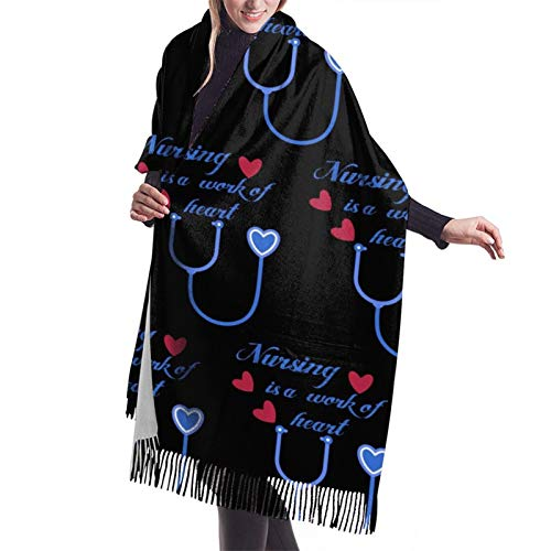 Nursing Purple Cashmere Scarf Pashmina Shawls And Wraps For Women Warm Winter More Thicker Soft Scarves