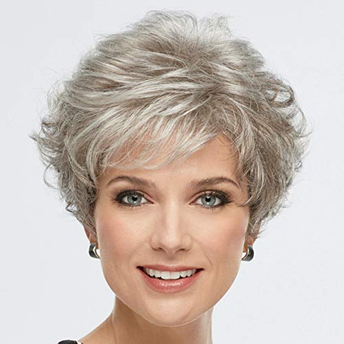 Celebrity WhisperLite Wig by Paula Young - Short, Natural-Looking, Versatile Layered Wig That Can Be Worn Smooth, Full, Even Wildly Tousled / Multi-tonal Shades of Blonde, Silver, Brown, and Red