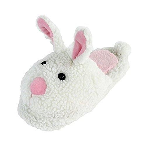 BunnySlippers.com Kinder Klassische Hasenpantoffeln 1-4 M Uns Großes Kind Weiß & Rosa