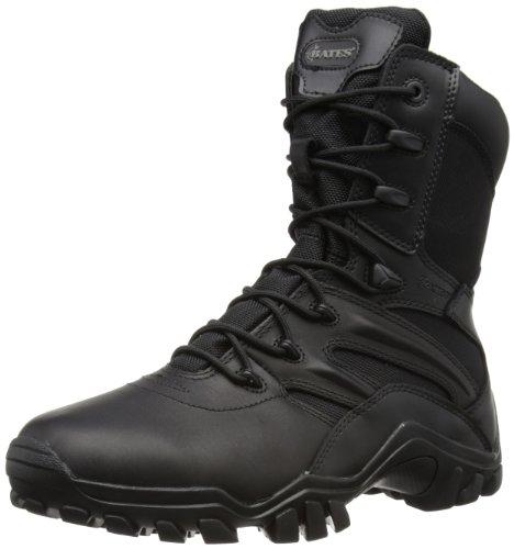 Bates Delta-8 Side Zip - Botas de cuero para hombre - negro- 8 UK, 42 EU