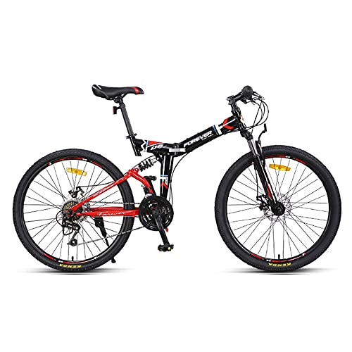 Mountain Bike, Road Bike, 26-inch Wheels, 24-Speed, High-Carbon Steel Frame, Line Disc Brake and Double Shock-Absorbing Bike, Available for Men and Women/A/As Shown