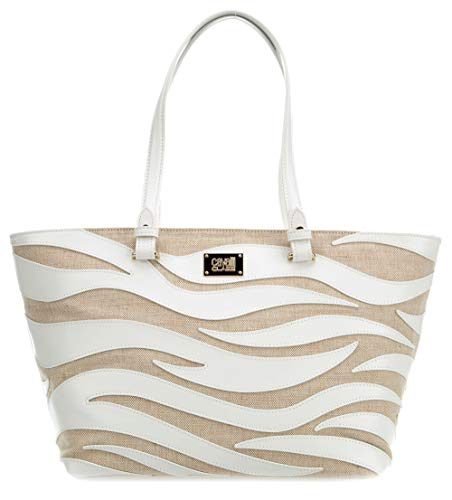 Roberto Cavalli Class Meryl Shopper natural/blanco