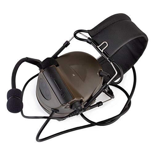 Camouflage-Kopfhörer Comtac II Taktisches Headset Rauschunterdrückung Elektronischer Tonabnehmer Sicherheit Gehörschutz mit Mikrofon, FG, Einheitsgröße