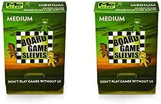Arcane Tinmen Medium Non-Glare Board Game Card Sleeves – 57mm x 89mm – Bundle of 2 – 100 Sleeves Total