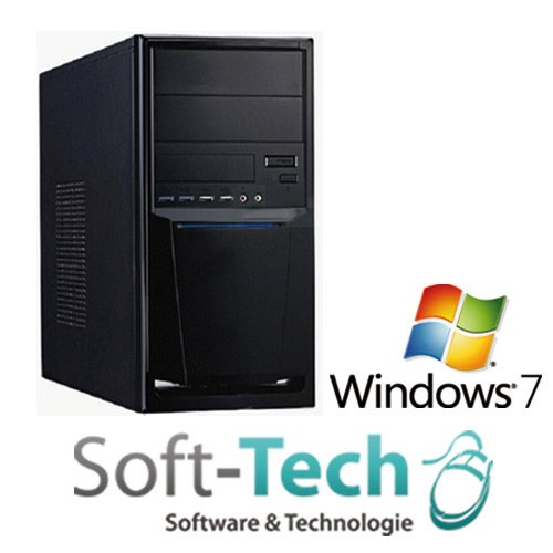 Leiser Komplett PC Quad Core AMD FX-4300-4X 3.8GHz - 8GB RAM - 1000GB HDD - VGA/DVI - DVD-Brenner -Windows 7