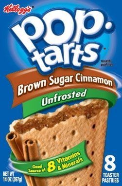 Translated Kellogg's Pop-Tarts Unfrosted Brown Sugar Cinnamon 8 Count 1 2021 new