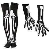 PRETYZOOM Esqueleto Guantes Calcetines Set Halloween Hueso Esqueleto Disfraz Fiesta Suministros