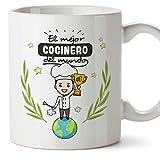 MUGFFINS Taza Cocinero (Mejor del Mundo) - Regalos Originales y...
