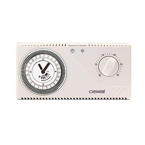 Cronotermostato diario electromecánico PT30 con alimentación a pilas 919 409 30 Cewal