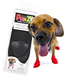 Pawz Dog Boots | Dog Paw Protection with Dog Rubber Booties | Dog Booties for Winter, Rain and Pavement Heat | Waterproof Dog Shoes for Clean Paws | Paw Friction for Dogs | Dog Shoes (Black) (S)