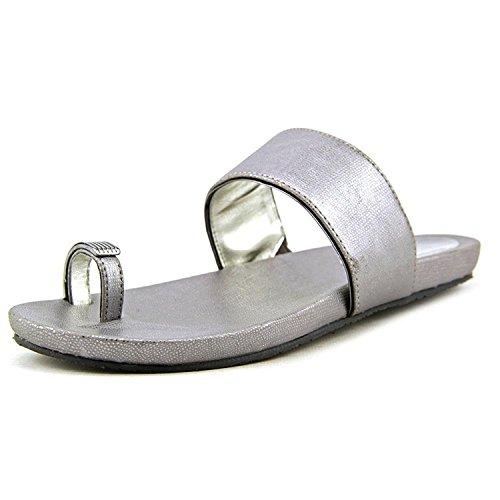 Alfani Women's Bague Open Toe Thong Slides Sandals, Gunmetal, 5 US