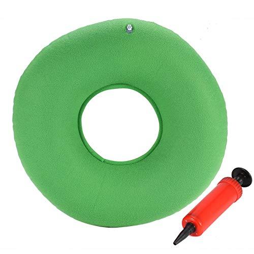 Jershal 3Colors New Inflatable Round Chair Pad Hüftstützsitz Home Office Stuhl & Autofahrersitzkissen(Grün)