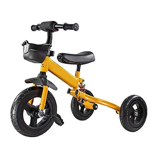 YETC 3-wielen voor kinderen met afneembare pedalen met verstelbare zitkleinkind tricycle peuter-bike
