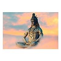 キャンバスにプリントヒンドゥー教主シヴァ壁アートキャンバス絵画ヒンドゥー教の神々のアートポスターとプリント壁アート写真リビングルーム40x60cmフレームなし