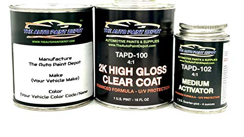 The Auto Paint Depot FACTORY MATCHED Paint for Buick Cascada, Enclave, Encore, Envision, LaCrosse, Regal, Verano-Black WA8555/GBA (All Years) One Pint Paint with One Pint 2k Clear Coat (4:1) w/activator