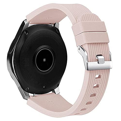 Apbands Correa 22 mm Compatible para Samsung Galaxy Watch 3 45mm/Gear S3/Galaxy Watch 46mm/for Huawei Watch GT 46mm/GT2 Pro/GT2e/Ticwatch Pro 3 Correa Deportiva de Silicona Suave