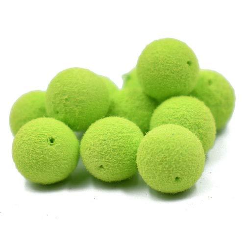 Phecda Sport 30pcs 12mm Smell Carp Fishing Bait Boilies Eggs / 4 Flavors Floating Ball Beads Feeder Artificial Carp Baits Lure/Hair Rig (Green Apple(12mm))