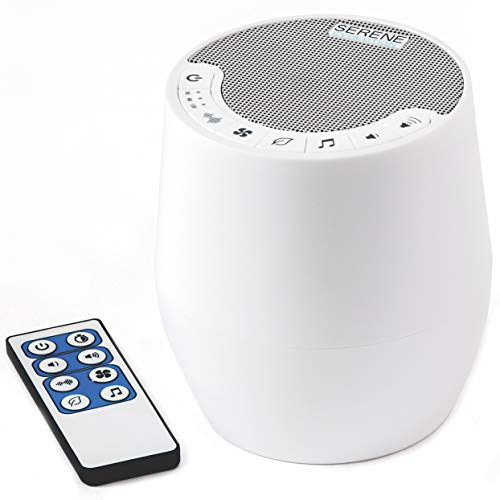 Serene Evolution 60 Sound White Noise Machine with Remote   Sound Machine for Home, Office, Adult and Baby