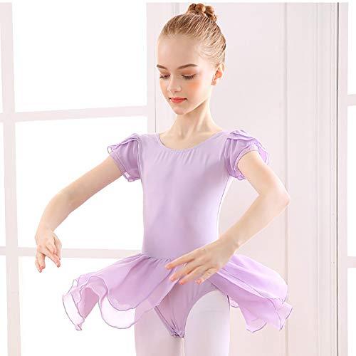Mädchen Ballett Kleid Tanz Kostüm Trikot Tutu Rock Langarm Gymnastik Body Dancewear Outfits