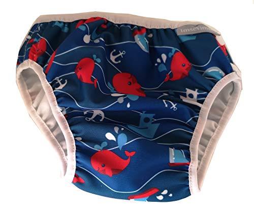 Imsevimse Badewindel Aquawindel Schwimmwindel Blue Deep (XL (11-14 kg))