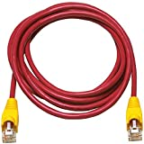 Allen Tel AT1525-REC Category 5e Ethernet Crossover Cable, 25-Foot Length, Red, AT15 Series, U/UTP Patch Cable, 2 Pair, 4 Stranded Copper Conductor