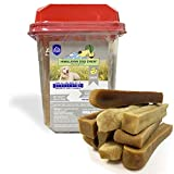Himalayan Cheese Chews | Long Lasting, Stain Free, Protein Rich, Low Odor | 100% Natural, Healthy & Safe | No Lactose, Gluten Or Grains | 3.0 lbs BULK TUB | XLARGE | for Dogs 55 Lbs & Larger