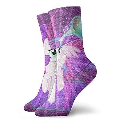 XCNGG My Little Rain-bow P-o-n-y unicornio corazón anime lindo 2 pares calcetines tripulación divertido casual unisex adultos hombres y mujeres niños anime impresión atlética