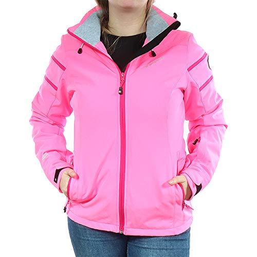ICEPEAK Damen Winter Ski Jacke Softshell Nelly 980 Weiß/Orange 254820542I (630 Pink, 38)