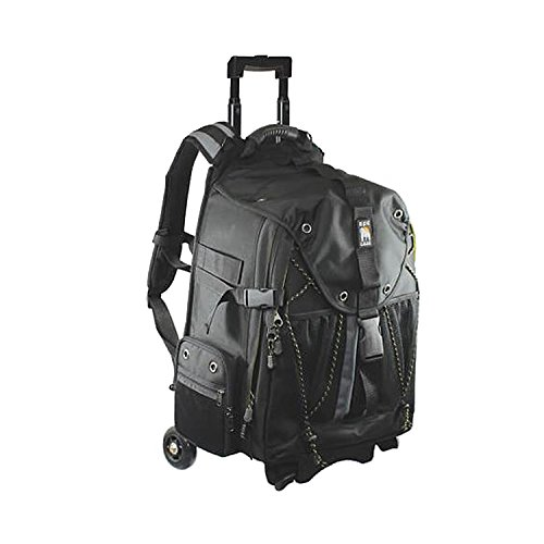 Ape Case, ACPRO4000, Backpack with wheels, Laptop compartment, Padded, Rain cover included, Adjustable straps, Camera backpack, Black (ACPRO4000),Large With Rollers