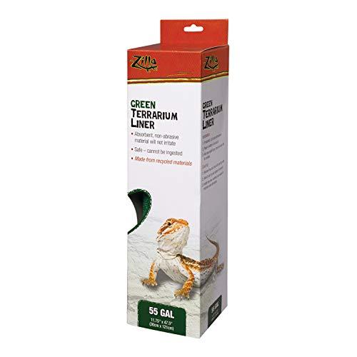 Zilla Reptile Terrarium Liners Green 33L/40L/55 Gallon