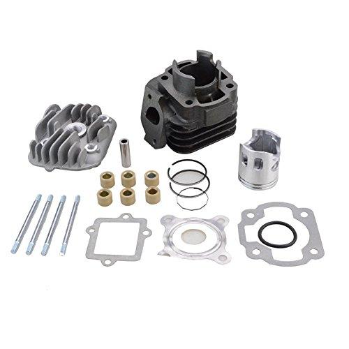GOOFIT Kit de cilindro con pistón de 10 mm para Yamaha Jog Zuma Vino 2 tiempos 50cc Scooter Minarelli 1E40QMB Engine