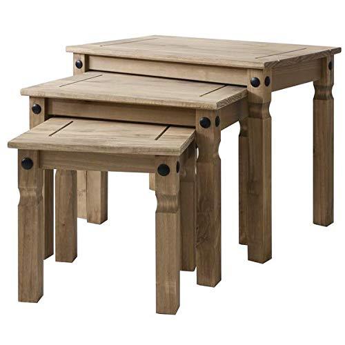 Mews Corona Nest of Tables, Wood, (W) 53cm (D) 35cm (H) 50cm