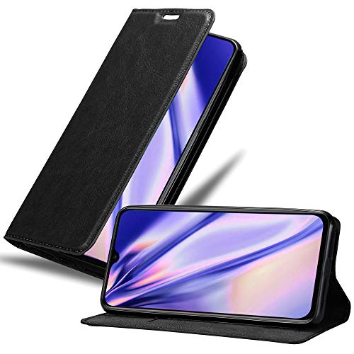 Cadorabo Hülle für Xiaomi Mi 9 SE in Nacht SCHWARZ - Handyhülle mit Magnetverschluss, Standfunktion & Kartenfach - Hülle Cover Schutzhülle Etui Tasche Book Klapp Style