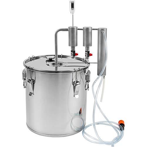 AlcoFermBrew Destillierapparat 30l Edelstahl + 2 Klärer | Brennapparaten