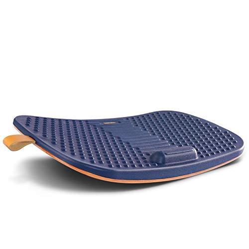 FEZIBO Sous-main de bureau avec barre anti-fatigue, planche d'équilibre en bois avec design ergonomique et confort (grand format)