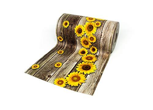 BIANCHERIAWEB Tappeto Passatoia Antiscivolo con Stampa Digitale Dis. Onda Girasoli 50x280 Sunflower